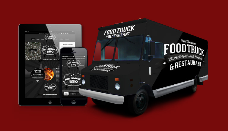 Foodtruck 1st real food truck template restaurant 10 for Food truck design software